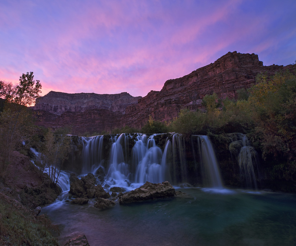 Navajo Falls Sunset