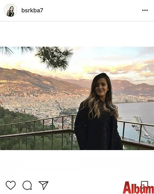 Büşra Kaba, Alanya manzarasına karşı çektirdiği bu fotoğrafla takipçilerinin beğenisini topladı.