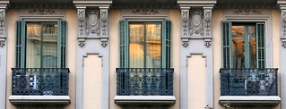 Three balconies, Barcelona