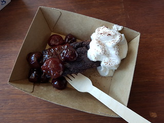 Black Forest Brownie from Green Street Foods at Brisbane Vegan Markets