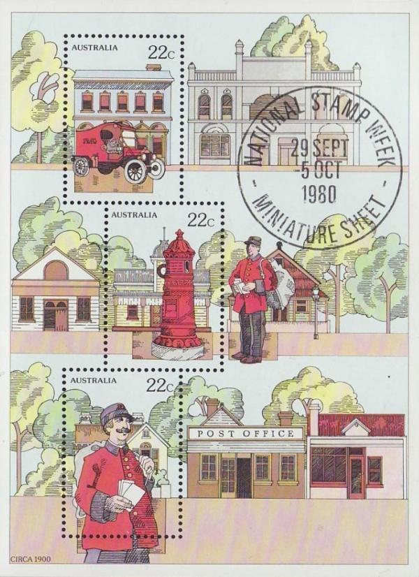 Známky Austrália 1980 Týždeň známky razený hárok