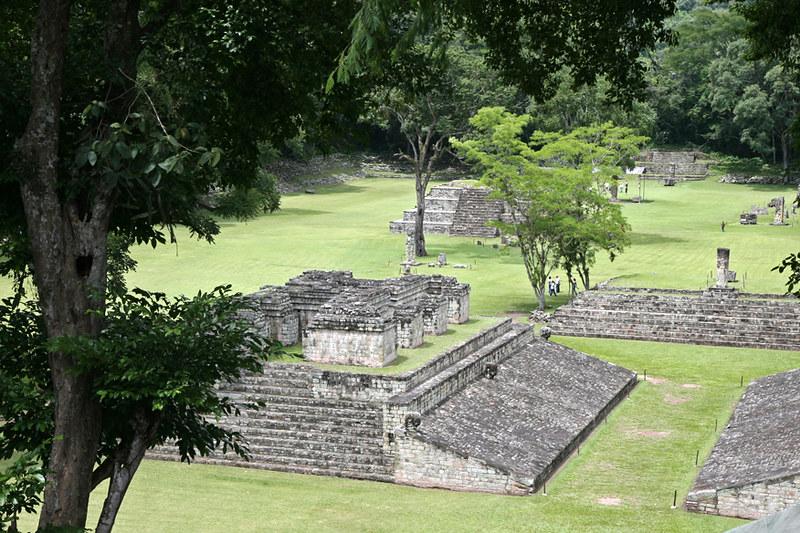 Maya ruins at Copan