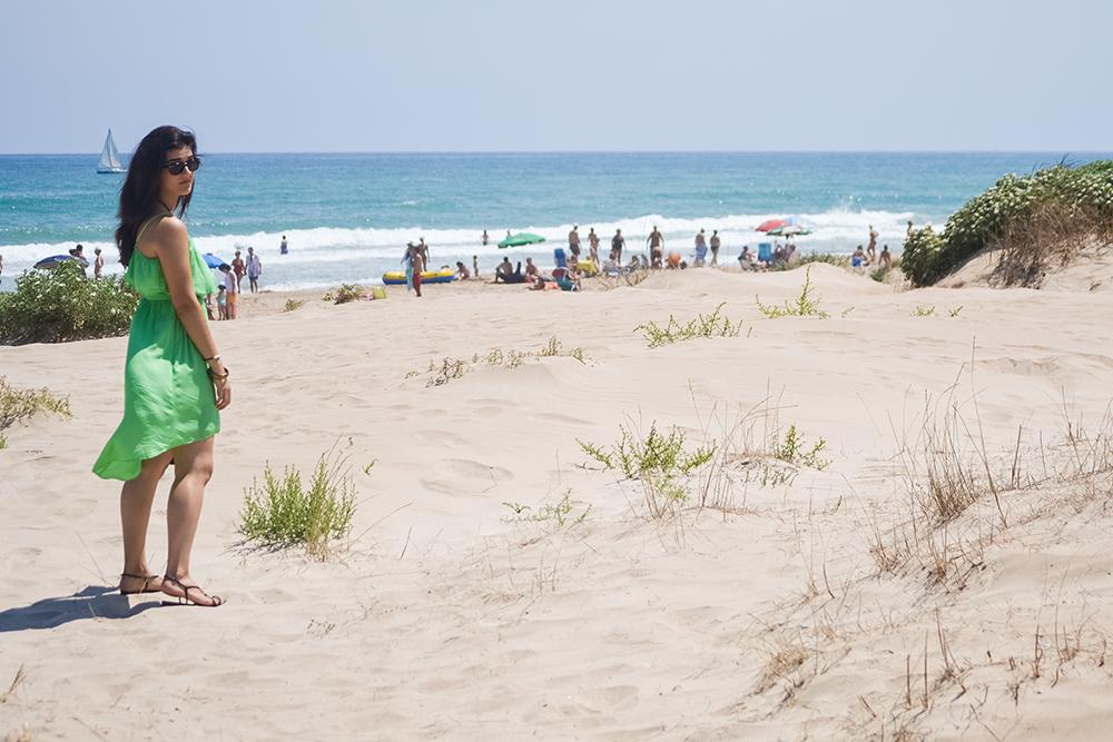 somethingfashion blogger beach ootd style outfit_green dress flowy_valencia spain influencer blogger moda 2