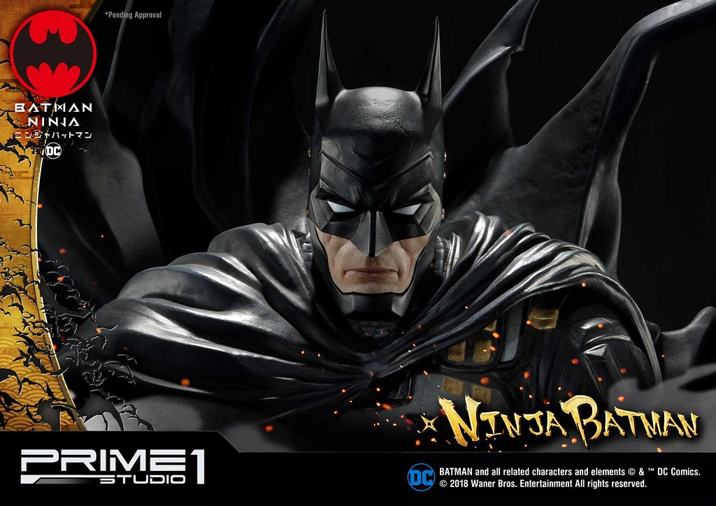 「新增官圖&販售資訊」戰國英豪氣魄的極致演繹!!Prime 1 Studio《忍者蝙蝠俠》忍者蝙蝠俠 普通版、豪華版 ニンジャバットマン PMDCNB-01、PMDCNB-01DX 1/4 比例雕像作品