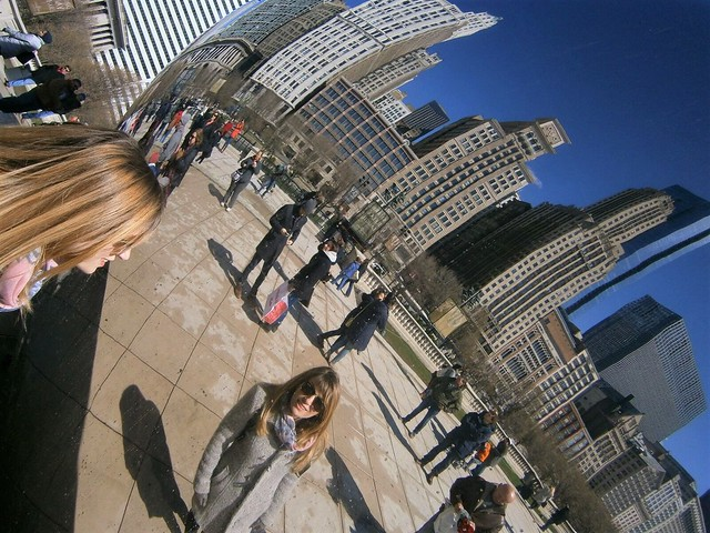 Reflection on the Bean (Cloud Gate), Chicago