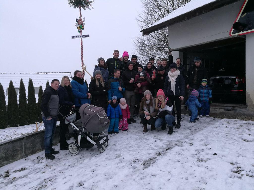 Bäumli stellen für ROBIN ELIAS Burkhalter, Februar 2018