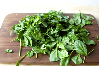 using baby spinach these days