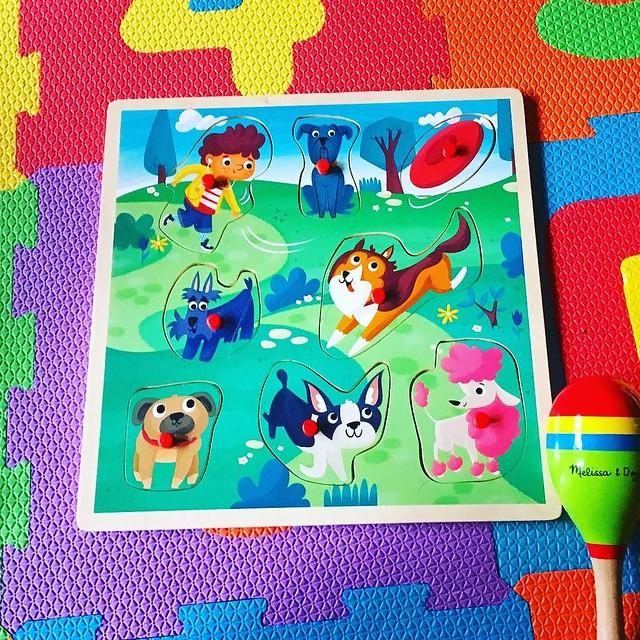 Dog puzzle! Thanks Grammy Kim. 🐶💙✨