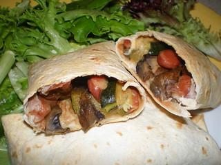Veggie-Sizzle Burritos