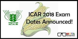 ICAR Exam Dates