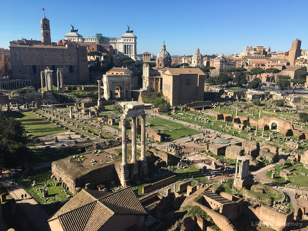 Roman Forum from view point