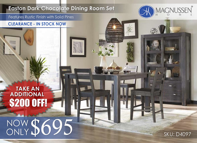 Magnussen Easton Chocolate Dining D4097_Stamped