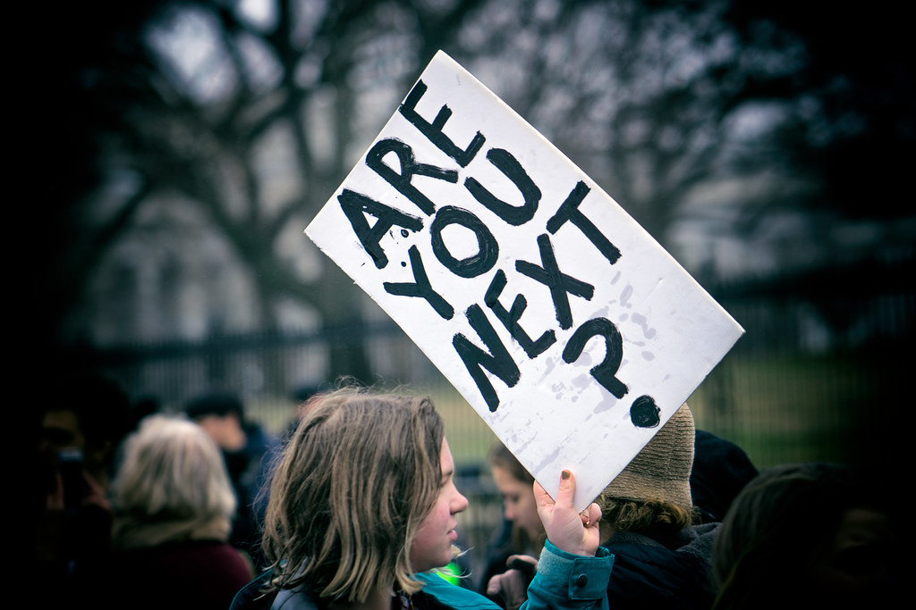 Are You Next? Student lie-in at the White House to protest gun laws