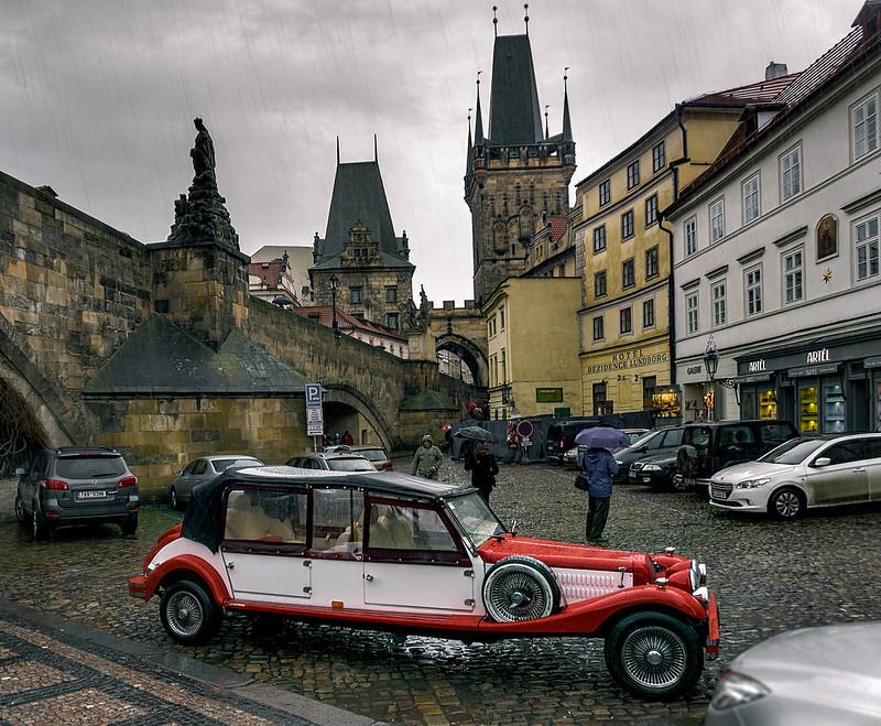 Praha in Rain, Czechia