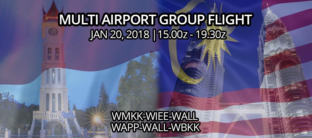 [ID] Multi Airport Group Flight: Indonesia-Malaysia