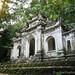 Een kleine tempel op een berg in Vietnam