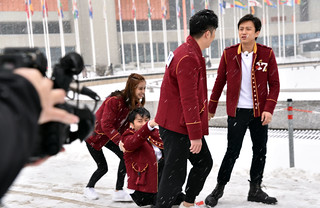 """Stars of China's popular """"Keep Running"""" TV show at the UN in Vienna"""