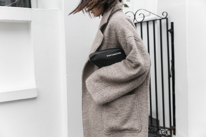 minimal street style winter london white ankle boots balenciaga triangle bag senso raey coat ellery pant turtleneck fashion blogger Instagram (10 of 12)