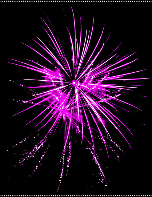 Awesome Purple Firework Bursts