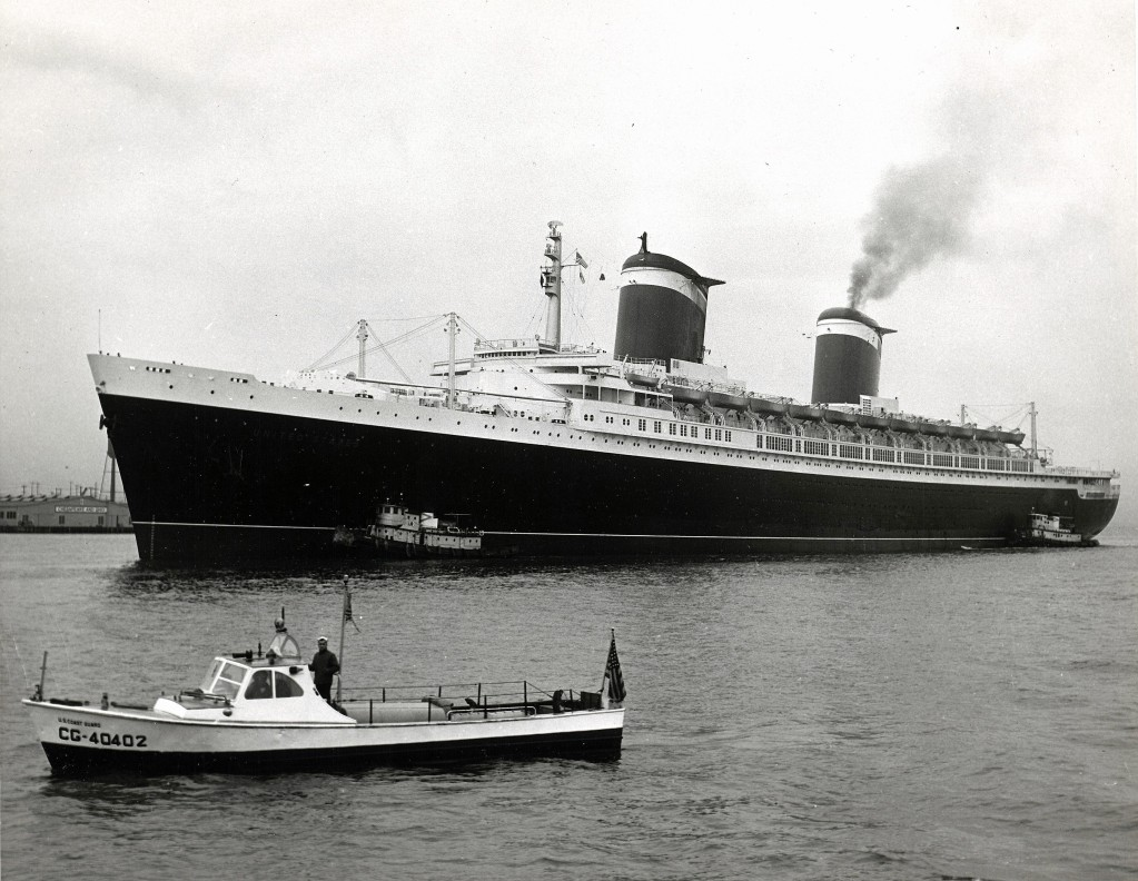 SS United States during sea trials. Photo taken on June 9, 1952.