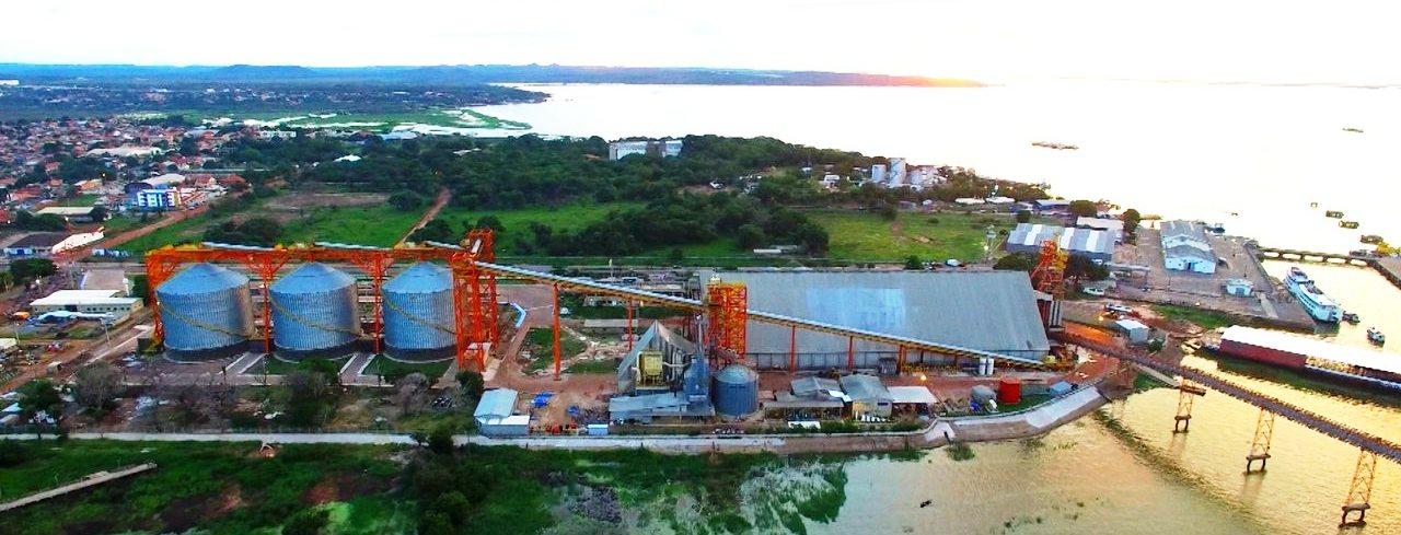 Brasil pode virar maior produtor de soja do mundo em 2019 , Soja em Santarém. Porto da Cargill