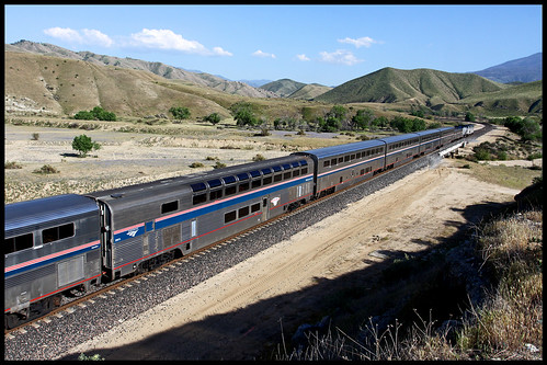 amtk amtrak bnsf up sp atsf santa fe el capitan coast starlight tehachapi pass ilmon ca california ppc pacific parlor car willamette valley