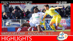 Virtus V.-Arzignano del 21-01-18