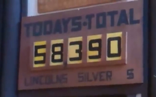 Silver Dollar Bar today's total