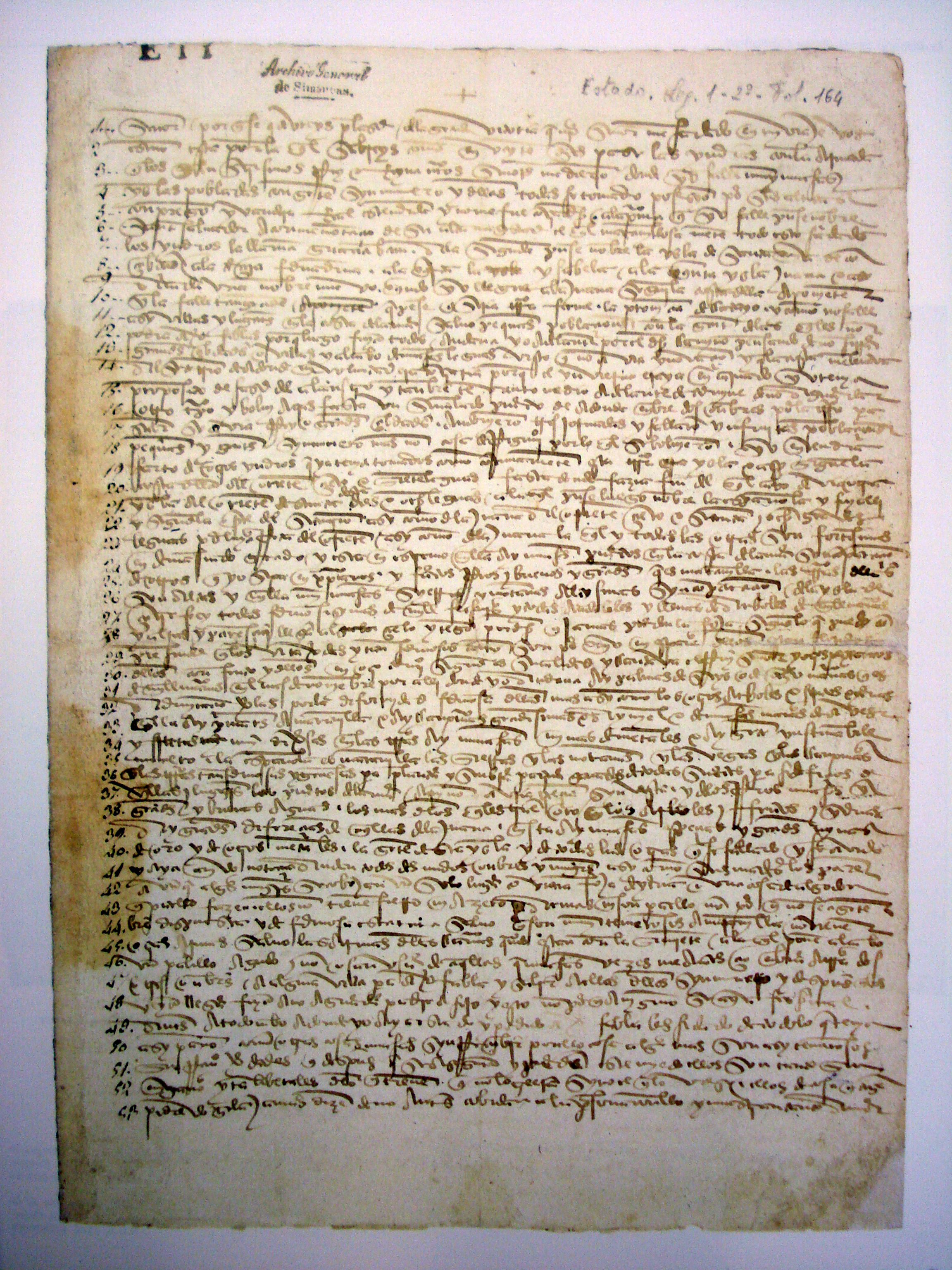 Manuscript version of Christopher Columbus' letter, discovered in 1983.