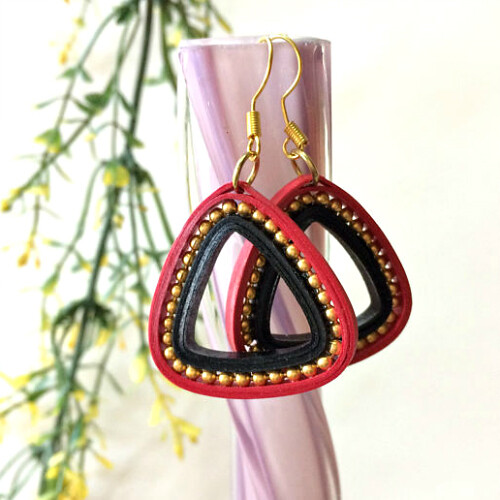 Triangular Quilled Earrings