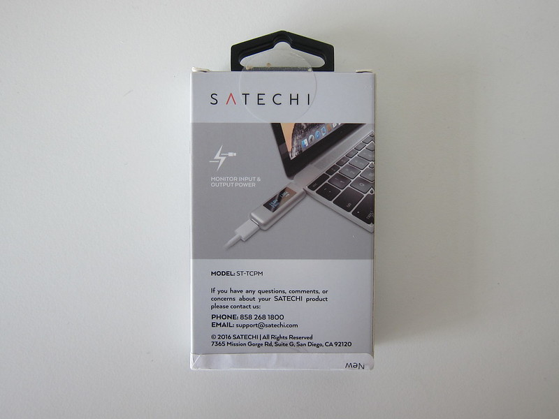 Satechi USB-C Multimeter - Box Back