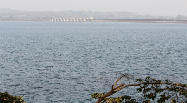 A view of the Khadakwasla reservoir as one approaches Pune city. It is the largest of the four reservoirs taking care of the water needs of Pune.