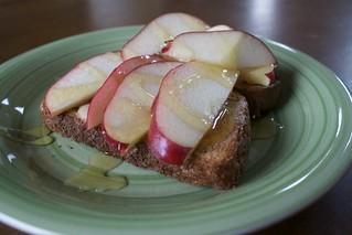 Apple Tahini Toast