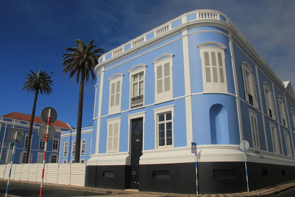 Blue building, Ponta Delgada