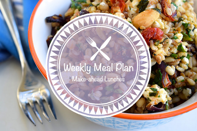 Weekly Meal Plan Make-ahead Lunches
