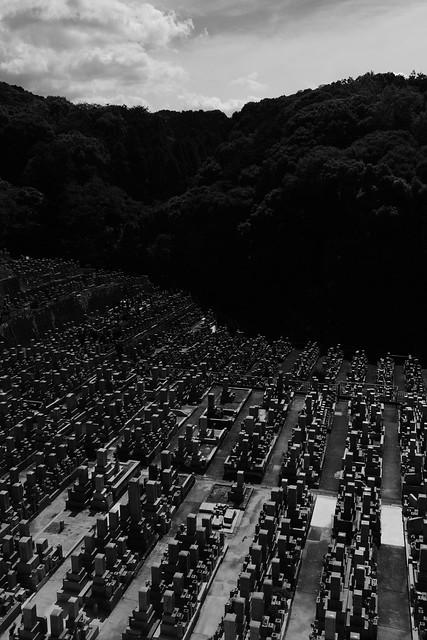 Otani cemetery、Higashiyama, Kyoto, Japan
