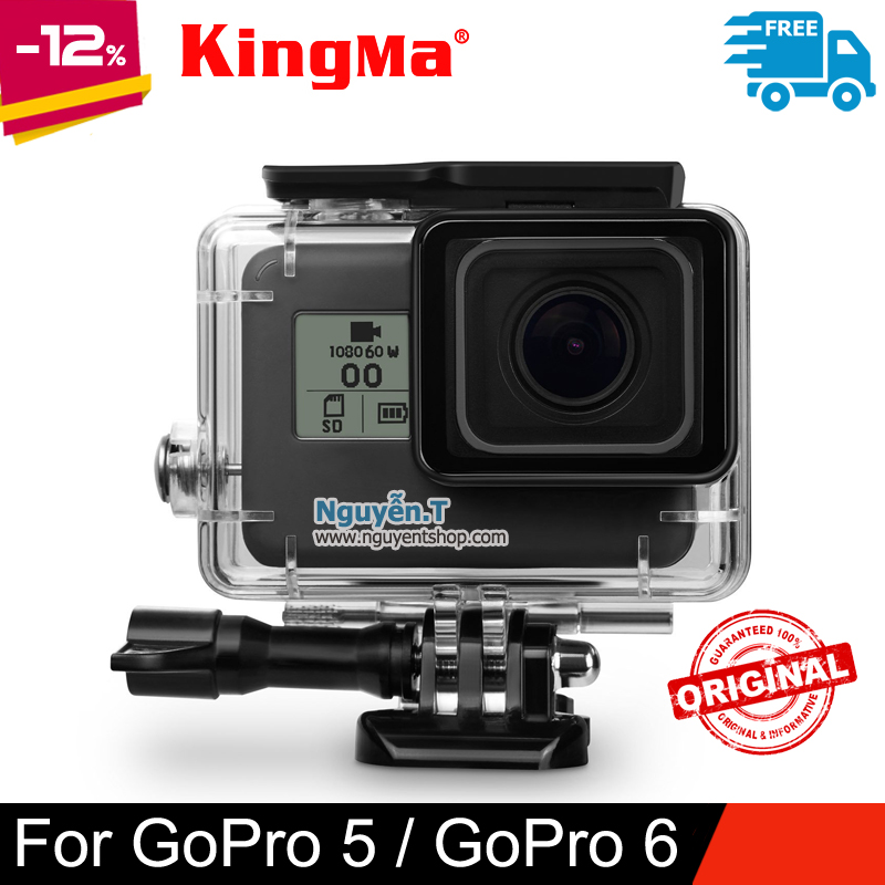 Case vỏ chống nước GoPro 5/6/7 KingMa chính hãng