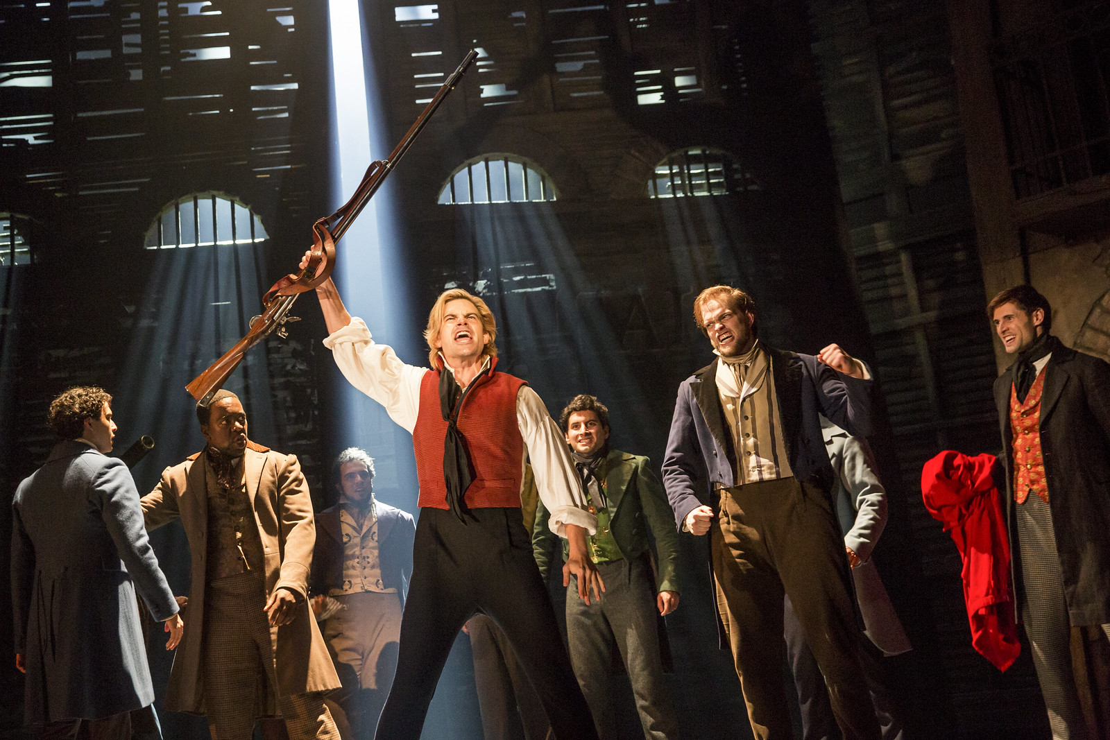Matt Shingledecker as Enjolras in the new national tour of Les Miserables (photo: Matthew Murphy) // Broadway in Detroit: Les Miserables At The Fisher Theatre - Wading in Big Shoes
