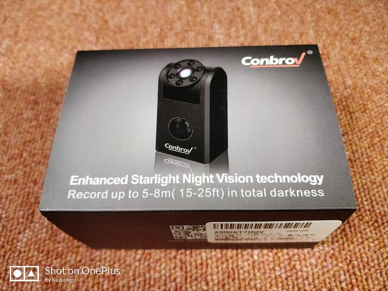 Conbrov 小型カメラ 赤外線センサー レビュー (1)