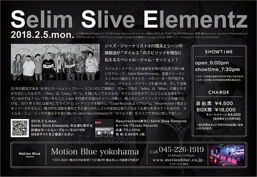 Motion Blue Live Flyer (Back)