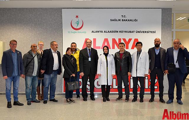 Alaaddin Keykubat Üniversitesi (ALKÜ) Eğitim ve Araştırma Hastanesi Başhekimi Prof Dr. Bülent Adil Taşbaş ve AGC Yönetim Kurulu Üyeleri