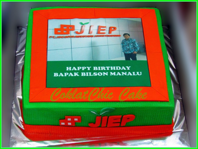 Cake Foto edible Image Bapak BILSON 24cm