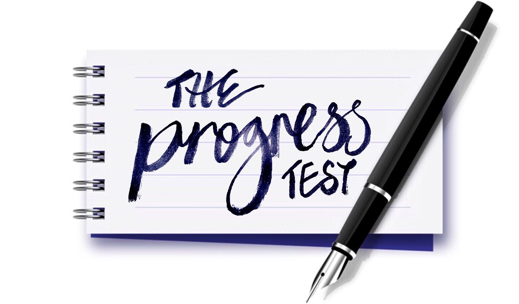 The Progress Test - brush lettering