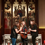 Tue, 20/02/2018 - 1:13pm - The trio of Sara Watkins, Sarah Jarosz and Aoife O'Donovan play for WFUV listeners at the Fordham University Church in NYC, 2/20/18. Hosted by John Platt. Photo by Gus Philippas/WFUV
