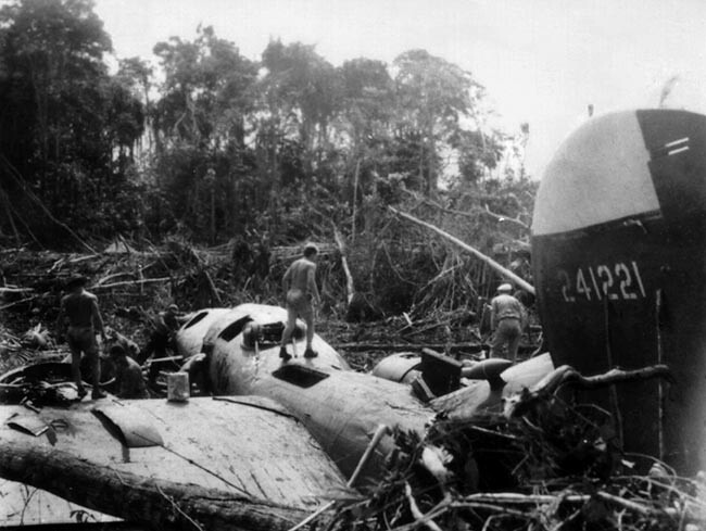 B-24 #42-41221 after it crashed