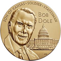 Bob dole Congressional medal bronze obverse