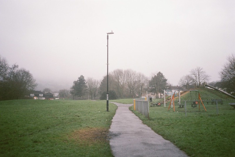 The line of the Malago,Withywood Park