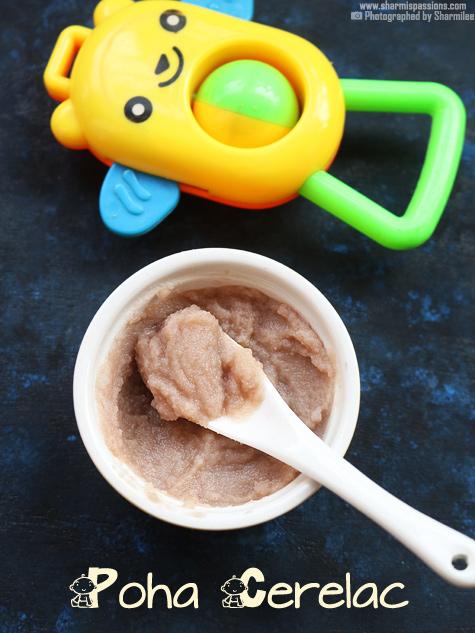 Instant Poha Cerelac Recipe Travel Baby Food Recipes