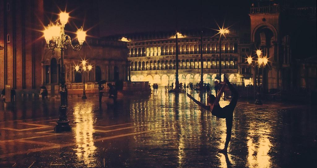 Rainy Yoga In St. Mark's Square