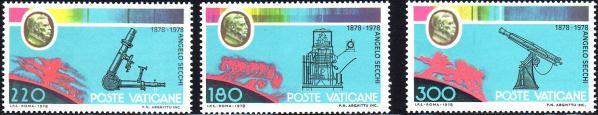 Známky Vatikán 1979 Astronóm Angelo Secchi, nerazítkovaná séria